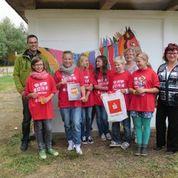 Team der 2. Oberschule Kamenz; Geräteschuppen gestalten