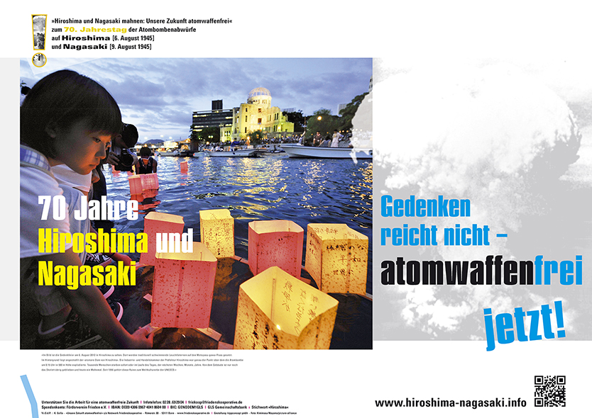 Motiv Plakat Hiroshima 70 Jahre