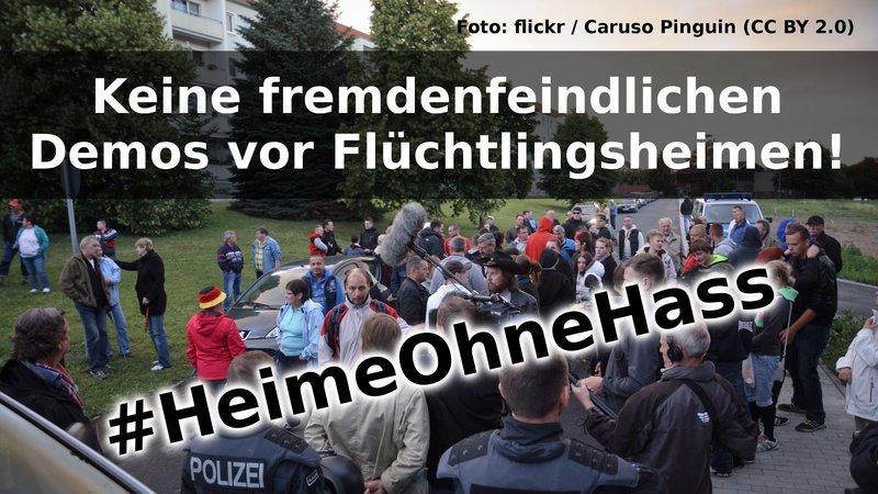 Online Petition_ Keine Demos vor Flüchtlingsheimen